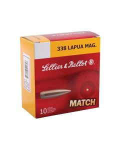 Sellier & Bellot 338 Lapua Mag 300 Grain Hollow Point Boat Tail 10 Rounds