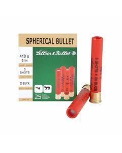 """Magtech Sellier & Bellot 410 Bore 3"""" 00 Buckshot 5 Pellets 25 Rounds"""