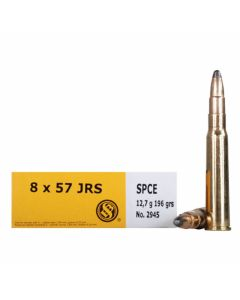 Sellier & Bellot 8x57mm JRS 196 Grain Soft Point Cutting Edge 20 Rounds