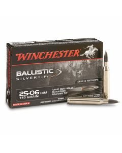 Winchester Ballistic Silvertip 25-06 Remington 115 Grain Rapid Controlled Expansion Polymer Tip 20 Rounds