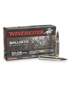 Winchester Ballistic Silvertip 30-06 Springfield 150 Grain Rapid Controlled Expansion Polymer Tip 20 Rounds