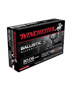 Winchester Ballistic Silvertip 30-06 Springfield 168 Grain Rapid Controlled Expansion Polymer Tip 20 Rounds