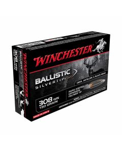 Winchester Ballistic Silvertip 308 Winchester 150 Grain Rapid Controlled Expansion Polymer Tip 20 Rounds
