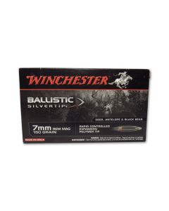 Winchester Ballistic Silvertip 7mm Remington Magnum 150 Grain Rapid Controlled Expansion Polymer Tip 20 Rounds