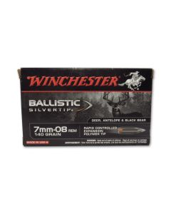 Winchester Ballistic Silvertip 7mm-08 Remington 140 Grain Rapid Controlled Expansion Polymer Tip 20 Rounds
