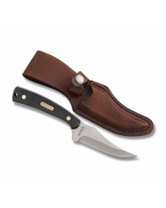 """Schrade Old Timer Large Sharpfinger with Sawcut OT Handles and Stainless Steel 4"""" Clip Point Plain Edge Blades Model 152OTL"""