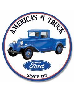 Ford - Ford Trucks Round Tin Sign