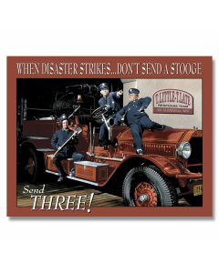 The Three Stooges - Fire Department Tin Sign