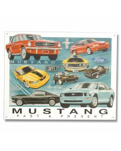 "Ford - ""Mustang - Past & Present"" Tin Sign"