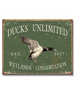 Ducks Unlimited - Est. 1937 Tin Sign