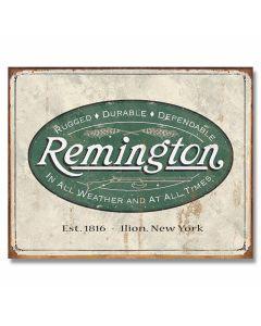 Remington Weathered Logo Tin Sign