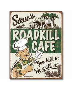 """Roadkill Cafe"" Tin Sign Model 1416"