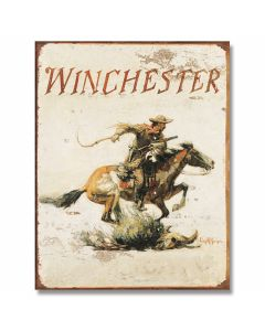 Winchester Logo Tin Sign Model 1421