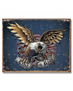 Live To Ride Eagle Tin Sign