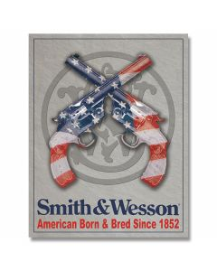 Smith & Wesson - American Born Tin Sign