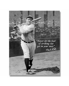 "Babe Ruth ""No Fear"" Tin Sign"