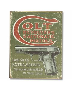 "Colt - ""Extra Safety"" Tin Sign"