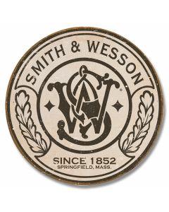 Smith & Wesson - Logo Round Tin Sign