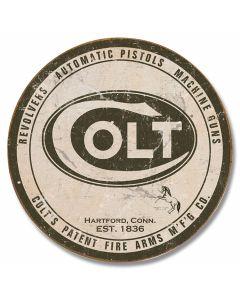 Colt - Logo Round Tin Sign