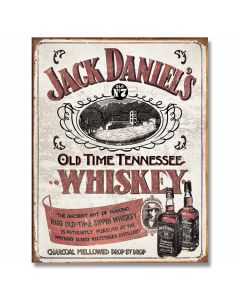 "Jack Daniel's ""Sippin' Whiskey"" Tin Sign"