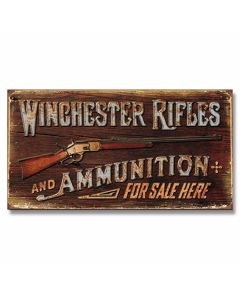 Winchester Rifles and Ammo Tin Sign