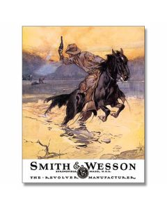 Smith and Wesson Hostiles Tin Sign