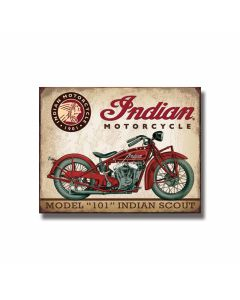 Model 101 Indian Motorcycle Tin Sign