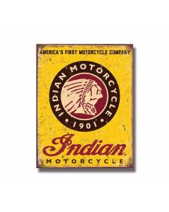 Indian Motorcycles 1901 Tin Sign