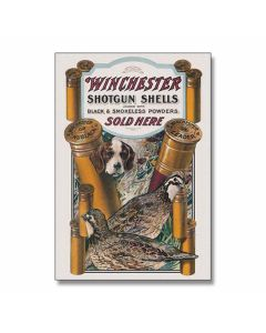 Winchester Dog & Quail Tin Sign