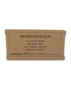 Winchester Service Grade 9mm 115 Grain Full Metal Jacket 50 Rounds
