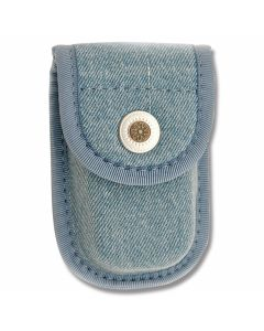 "Denim Fabric Sheath fits Pocketknife up to 3"" Closed"