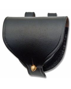 Civil War Replica Plain Leather Cap Pouch