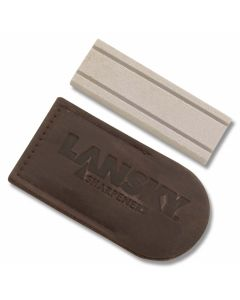 "Lansky 3"" Hard Super Arkansas Pocket Stone with Pouch"