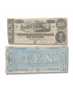Genuine Confederate Government Circulated Currency - Single Note
