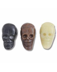 Set of 3 Hand Carved Nephrite Skulls