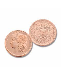 One Ounce Morgan Dollar Copper Round