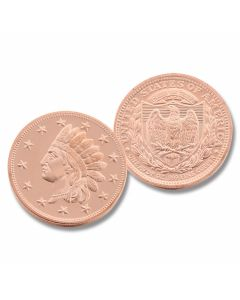 One Ounce Indian Penny Copper Round