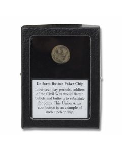 Union Army Button Poker Chip