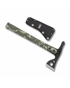 Sog Fasthawk Axe with Digital Camo Glass Reinforced Nylon Handle and Black Coated 420 Stainless Steel Axe Head with Black Nylon Sheath Model F06TN-CP