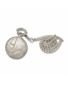 Robert Fulton's Steamboat Great Inventions Pocket Watch