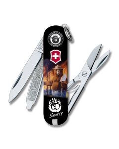 Victorinox Smokey Bear Paw Print Classic SD with Composition Handles and Stainless Steel Blades Model 55415