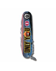 "Victorinox Swiss Army Tinker Smokey Bear Series 3.625"" with Only You Printed ABS Handles and Stainless Steel Blades and Tools Model STBV912"