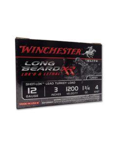 """Winchester Long Beard XR 12 Gauge 3"""" 1-3/4oz #4 Copper Plated Shot 10 Rounds"""