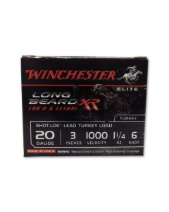 """Winchester Long Beard XR Turkey 20 Gauge 3"""" 1-1/4oz #6 Shot 10 Rounds"""