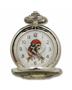 Sigma Impex Pirate Pocketwatch with Silver Finish