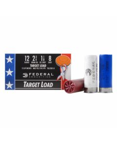 """Federal Top Gun Wounded Warrior 12 Gauge 2-3/4"""" 1-1/8"""" oz #8 25 Rounds"""