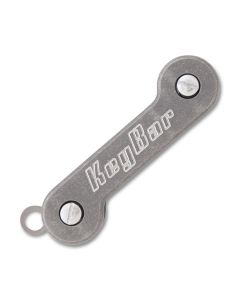 KeyBar Milled Titanium with Milled Titanium Clip with Hardware TKBMTPC