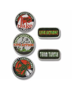 "Turtleman Set of 5 ""Team Turtle"" Patches"