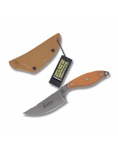 TOPS Knives Rockies Edition Lioness Fixed Blade with Tan Micarta Handles and Tumble Finish 1095 High Carbon Steel Drop Point Plain Edge Blades and Kydex Sheath Model LION-TBF