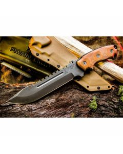 "TOPS Steel Eagle 107C Delta Class With Micarta Handle and 7.63"" 1095 Carbon Steel Hunter's Point Blade Model SE107CDC"